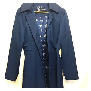 Guess Blue Trench Rain Coat